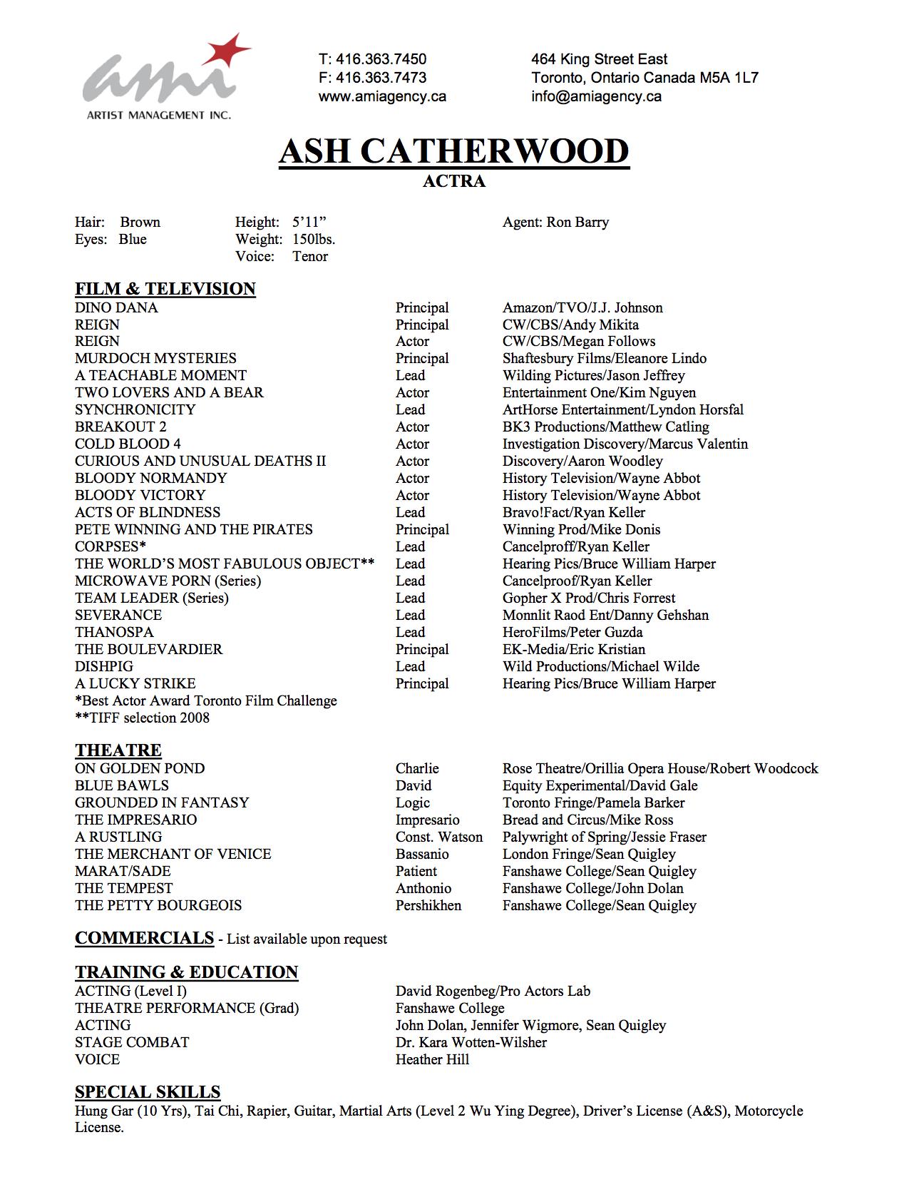 Resume Ash Catherwood